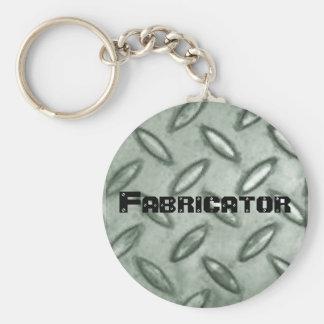 chequer-plate Fabricator Keychain