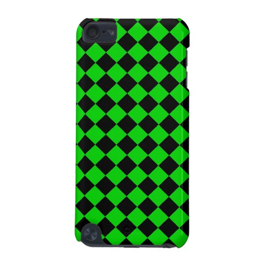 ChequerBoard (Lime/Black) iPod Touch Case