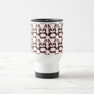 chequered bunny 15 oz stainless steel travel mug