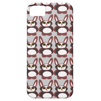 chequered bunny iPhone 5 case