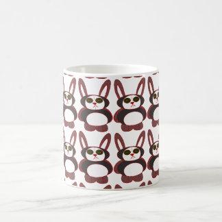 chequered bunny coffee mug
