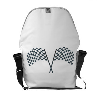 Chequered flag bags messenger bag