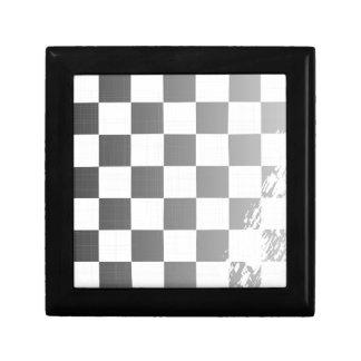 Chequered Flag Grunge Jewelry Box