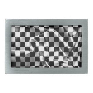 Chequered Flag Pewter Belt Buckle