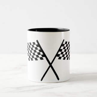 chequered flag Two-Tone coffee mug