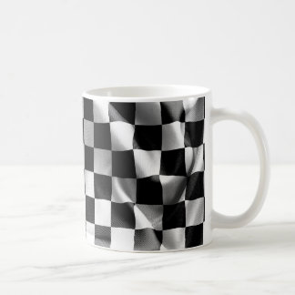 Chequered Flag White Mug