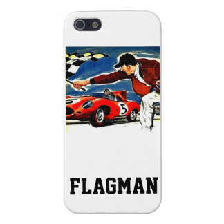 'Chequered Flagman' by Flagman iPhone 5/5S Case
