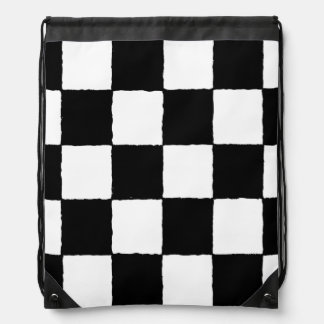 chequered-I Cinch Bag