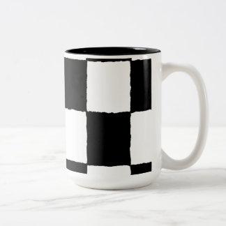 chequered-I Two-Tone Coffee Mug