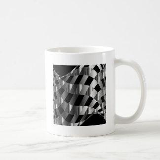 chequered metallic background classic white coffee mug