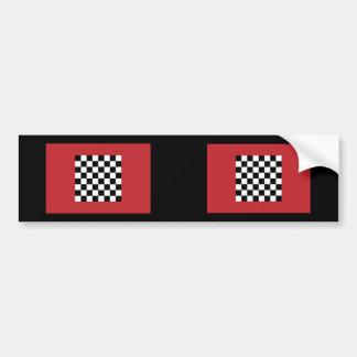 Chequered   Morocco, Morocco Car Bumper Sticker