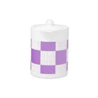 Chequered Purple Grunge Teapot