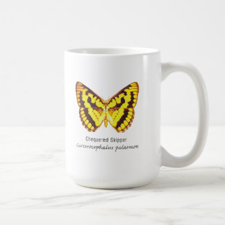 Chequered Skipper Butterfly with Name Classic White Coffee Mug