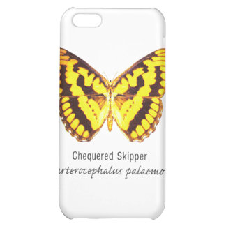 Chequered Skipper Butterfly with Name Cover For iPhone 5C