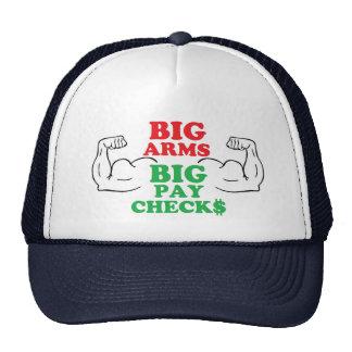 Cheques grandes de los brazos grandes gorro de camionero