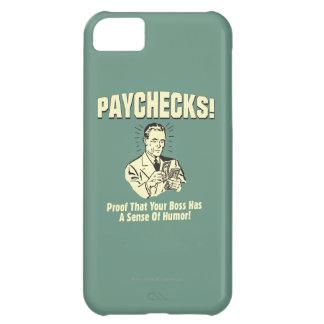 Cheques: Sentido del humor Funda Para iPhone 5C