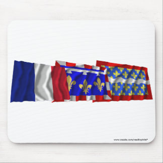 Cher, Centre & France flags Mouse Pads