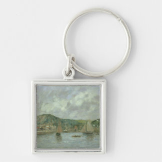 Cherbourg, 1883 (oil on canvas) keychain