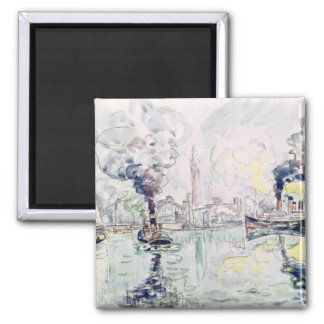 Cherbourg, 1931 2 inch square magnet