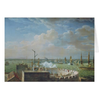 Cherbourg Harbour, 1822 Card