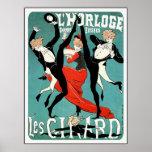 Cheret Art Nouveau Poster:  Les Girard: Dance