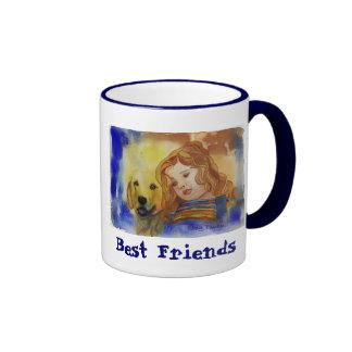 Cheri azul taza de dos colores
