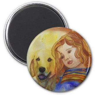 Cheri Blu 2 Inch Round Magnet