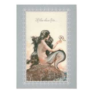 Cheri Herouard Mermaid Flat Card Invitation 5x7