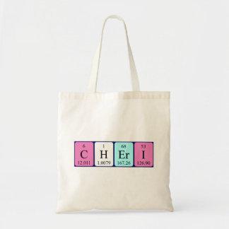 Cheri periodic table name tote bag