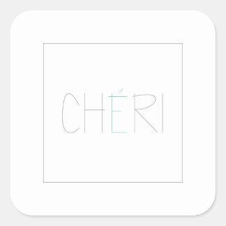 CHERI SQUARE STICKER
