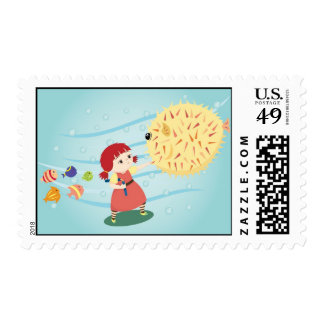 Cherie The Kung Fu Girl Postage Stamp
