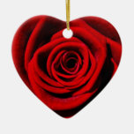 Cherie's Gifts Double-Sided Heart Ceramic Christmas Ornament