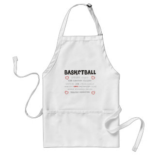 cherish-basketball. adult apron