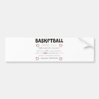 cherish-basketball. pegatina para auto