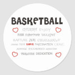 cherish-basketball. pegatina redonda