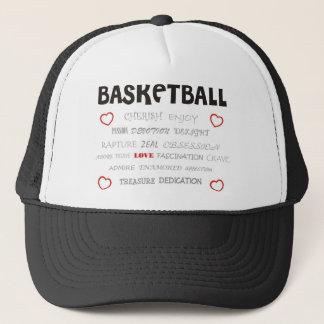 cherish-basketball. trucker hat