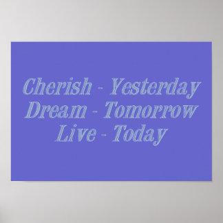 Cherish blue poster