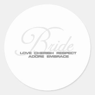 Cherish Bride Classic Round Sticker