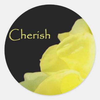 Cherish Classic Round Sticker