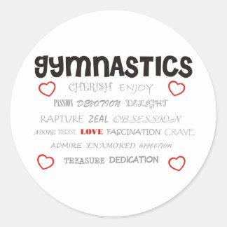 Cherish Gymnastics Classic Round Sticker