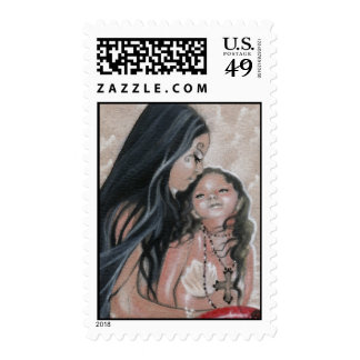 Cherish Mermaid and Child Postage