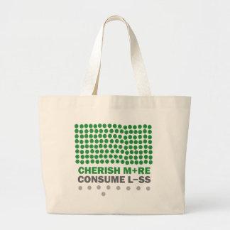 Cherish More Consume Less Canvas Bags