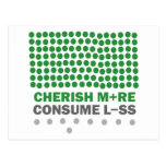 Cherish More Consume Less Postcard