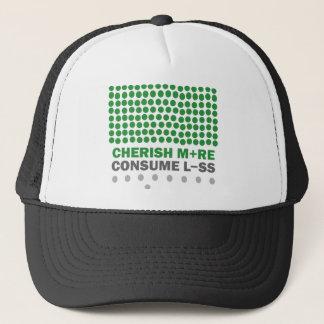 Cherish More Consume Less Trucker Hat