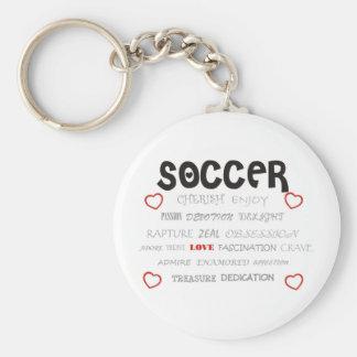 Cherish Soccer Basic Round Button Keychain