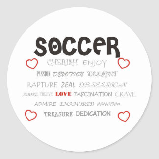 Cherish Soccer Classic Round Sticker