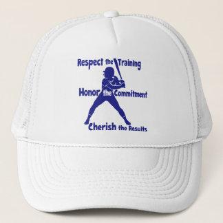 CHERISH SOFTBALL TRUCKER HAT