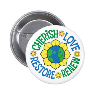 Cherish the Earth Buttons