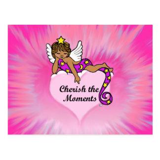 Cherish The Moments Ethnic Angel Postcard