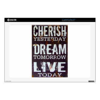 Cherish Yesterday Dream Tomorrow Live Today Skin For Laptop